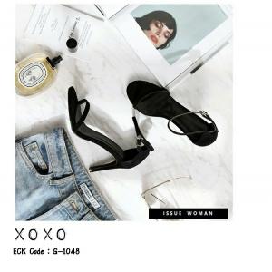 พร้อมส่ง รองเท้าสวมส้นเข็ม G-1048-BLK [สีดำ]