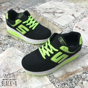 พร้อมส่ง รองเท้าผ้าใบผู้หญิง SM9014- BLACK-A [สีดำ]