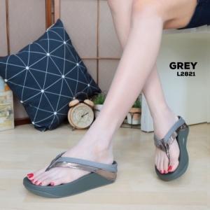 พร้อมส่ง รองเท้าเพื่อสุขภาพ ฟิทฟลอปหนีบ L2821-GRY [สีเทา]