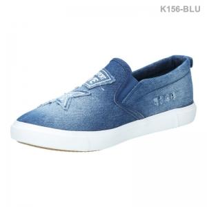 พร้อมส่ง รองเท้าผ้าใบแฟชั่น K156-BLU [สีน้ำเงิน]