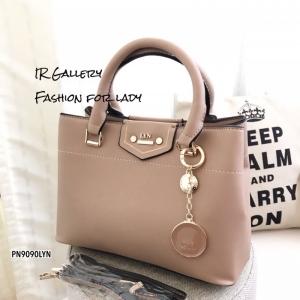 กระเป๋าถือ กระเป๋าสะพายข้างผู้หญิง งานชนช็อปวัสดุหนังพียูคุณภาพพรีเมี่ยม Lyn Kensington s [สีเบจ ]