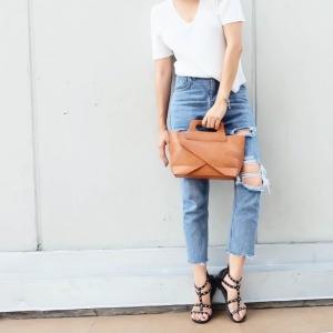 กระเป๋าสะพายแฟชั่น กระเป๋าสะพายข้างผู้หญิง กระเป๋าดีไซด์เก๋ เอนกประสง ถือก็ได้สะพายก็เท่ หนังPU [สีน้ำตาล ]