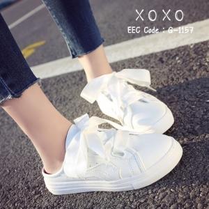 พร้อมส่ง รองเท้าผ้าใบ PUMA เปิดหลัง G-1157-WHI [สีขาว]