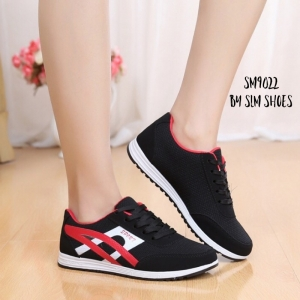 พร้อมส่ง รองเท้าผ้าใบผู้หญิง SM9022-BLK [สีดำ]