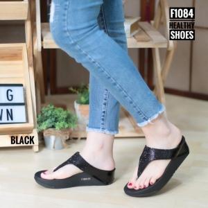 พร้อมส่ง รองเท้าเพื่อสุขภาพ ฟิทฟลอป F1084-BLK [สีดำ]