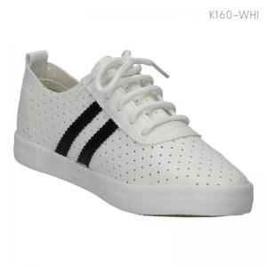 พร้อมส่ง รองเท้าผ้าใบแฟชั่น K160-WHI [สีขาว]