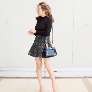กระเป๋าสะพายแฟชั่น กระเป๋าสะพายข้างผู้หญิง Kelly Toy Mini [สีกรม]