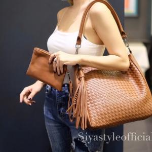 พร้อมส่ง กระเป๋าสะพายข้างผู้หญิง BT Bag [สีน้ำตาล]
