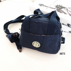 กระเป๋าสะพายข้างแฟชั่น วัสดุผ้าร่ม Style Kipling [สีกรม ]