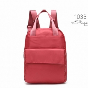 พร้อมส่ง เป้ผู้หญิงผ้าไนล่อนสไตล์ญี่ปุ่น-1033 [สีแดง]