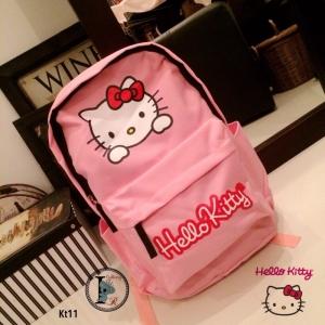 กระเป๋าเป้ผู้หญิง กระเปาสะพายหลังแฟชั่น ผ้าร่ม Style Hello Kitty [สีชมพู ]