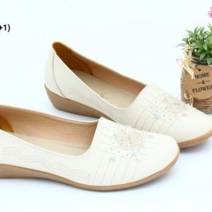 พร้อมส่ง รองเท้าคัชชูลำลองเพื่อสุขภาพ JN900-CRM [สีครีม]