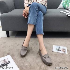 พร้อมส่ง รองเท้าคัทชูส้นเตี้ย N0119D4-GRY [สีเทา]