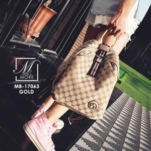 กระเป๋าสะพายเป้กระเป๋าถือ เป้แฟชั่นนำเข้าสไตล์แบรนด์ดัง MB-17063-GLD (สีทอง)