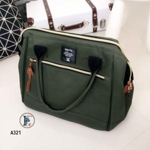 กระเป๋าสะพายแฟชั่น กระเปาสะพายข้างผู้หญิง ถือหรือสะพายไหล่ก็ได้ สไตล์แบรนด์ดัง Anello [สีเขียว ]