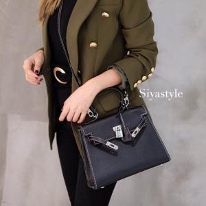 พร้อมส่ง กระเป๋าสะพายข้างผู้หญิง Kelly size 25 cm [สีดำ]
