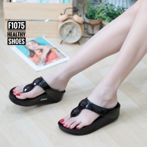 พร้อมส่ง รองเท้าเพื่อสุขภาพ ฟิทฟลอป F1075-BLK [สีดำ]
