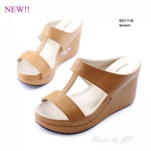 พร้อมส่ง รองเท้าลำลอง แบบสวม 927-119F4-BWN [สีน้ำตาล]