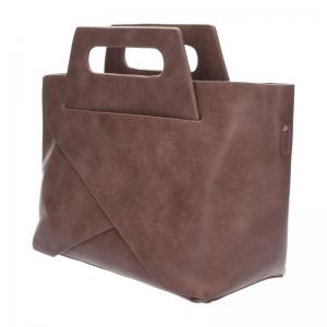 กระเป๋าสะพายแฟชั่น กระเป๋าสะพายข้างผู้หญิง New Design [สีนู๊ด]