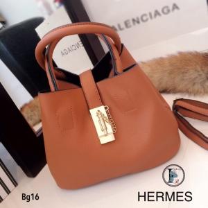 กระเป๋าถือผู้หญิง กระเป๋าสะพายข้างผู้หญิง หนังนิ่มคุณภาพ Style Hermes งานTop Mirror [สีน้ำตาล ]