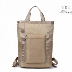 พร้อมส่ง กระเป๋าเป้ผ้าไนล่อนใบใหญ่ - 1050 [สีแทน]
