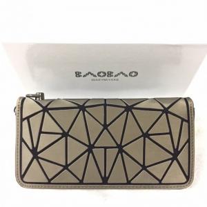 กระเป๋าตัง กระเป๋าเงินผู้หญิง งานปั้มLOGO baobao style แบบฝาพับ [สีทอง ]