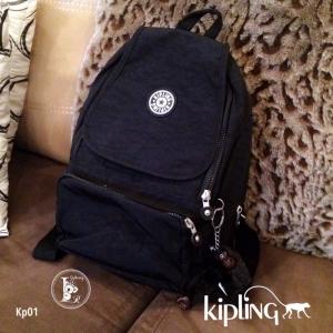 กระเป๋าเป้ผู้หญิง กระเปาสะพายหลังแฟชั่น วัสดุผ้าร่ม Style Kipling งานTop Mirror [สีดำ ]