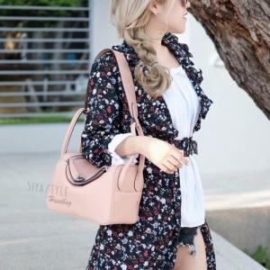 กระเป๋าถือผู้หญิง กระเป๋าสะพายข้างแฟชั่น งานตัดเย็บ เนี๊ยบกริบ Lindy PU [สีชมพู ]