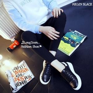 พร้อมส่ง รองเท้าผ้าใบผู้หญิง MK029-BLK [สีดำ]