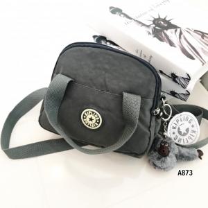 กระเป๋าสะพายข้างแฟชั่น วัสดุผ้าร่ม Style Kipling [สีเทา ]