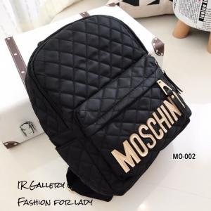กระเป๋าเป้ผู้หญิง กระเป๋าสะพายหลังแฟชั่น ผ้าไนลอน Style Brand MC [สีดำ ]