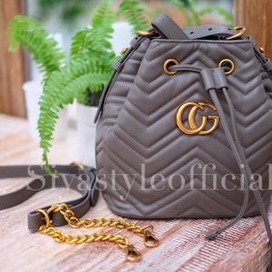 กระเป๋าสะพายแฟชั่น กระเป๋าสะพายข้างผู้หญิง GG ทรงขนมจีบ [KHA]
