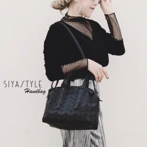 กระเป๋าสะพายแฟชั่น กระเป๋าสะพายข้างผู้หญิง BaoBao-Logo-Robot [สีดำ ]