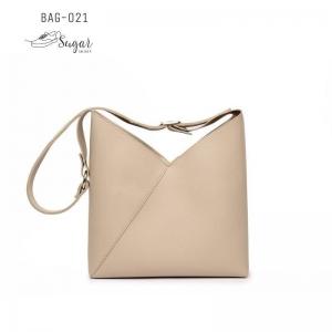 พร้อมส่ง กระเป๋าสะพายไหล่ผู้หญิง-BAG-021 [สีครีม]