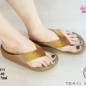 พร้อมส่ง รองเท้าสุขภาพ fitflop TE411-GLD [สีทอง]