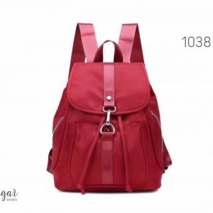 พร้อมส่ง กระเป๋าเป้ผู้หญิงผ้าไนล่อน-1038 [สีแดง]