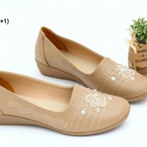 พร้อมส่ง รองเท้าคัชชูลำลองเพื่อสุขภาพ JN900-BRN [สีน้ำตาล]