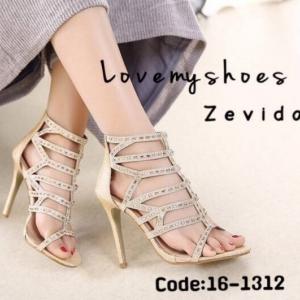 พร้อมส่ง รองเท้าส้นสูง สไตล์เกาหลี 16-1312-GLD [สีทอง]