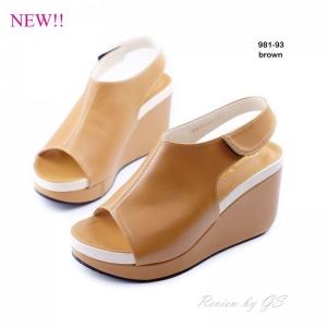 พร้อมส่ง รองเท้าลำลอง รัดส้น 981-93A5-BWN [สีน้ำตาล]