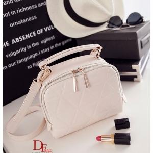 กระเป๋าสะพายแฟชั่น กระเป๋าสะพายข้างผู้หญิง ดีไซน์น่ารักสไตล์เกาหลี [สีขาว ]