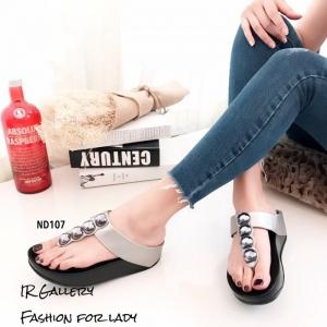 พร้อมส่ง รองเท้าแตะเพื่อสุขภาพ แบบคีบ พื้นSoft Comfort แฟชั่นเกาหลี [สีเทา ]