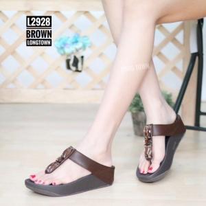 พร้อมส่ง รองเท้าเพื่อสุขภาพ ฟิทฟลอปหนีบ L2928-BRN [สีน้ำตาล]