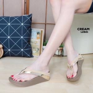 พร้อมส่ง รองเท้าเพื่อสุขภาพ ฟิทฟลอปหนีบ L2821-CRM [สีครีม]