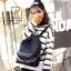 พร้อมส่ง กระเป๋าเป้แฟชั่นนำเข้าทรงยอดฮิตสไตล์เกาหลี [สีดำ] thumbnail 4