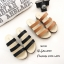 รองเท้าแตะลำลองวัสดุหนังนิ่ม คาด3 สาย 961-59-ตาล (สีน้ำตาล) thumbnail 3