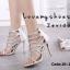 พร้อมส่ง รองเท้าส้นสูง สไตล์เกาหลี 16-1312-SIL [สีเงิน] thumbnail 1