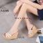 พร้อมส่ง รองเท้าส้นเตารีด สไตล์เกาหลี zevida 17-2285-CRM [สีครีม] thumbnail 2