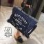 พร้อมส่ง กระเป๋าแฟชั่นนำเข้าทรง shopping bag สุดเก๋ส์ [สีน้ำเงิน] thumbnail 3