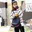 พร้อมส่ง กระเป๋าเป้แฟชั่นนำเข้าทรงยอดฮิตสไตล์เกาหลี [สีดำ] thumbnail 3