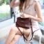 พร้อมส่ง กระเป๋าสะพายข้างผู้หญิง Mini Kelly Crocodile [สีช็อกโกแลต] thumbnail 1
